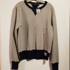 NEW NWT POLO Ralph Lauren Gray Sweatshirt M